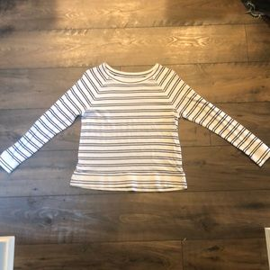 LOFT long sleeve striped top